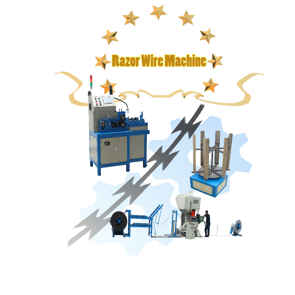 NEW GENERATION HIGH SPEED RAZ0R WIRE MAKING MACHINE CONCERTINA WIRE MACHINE